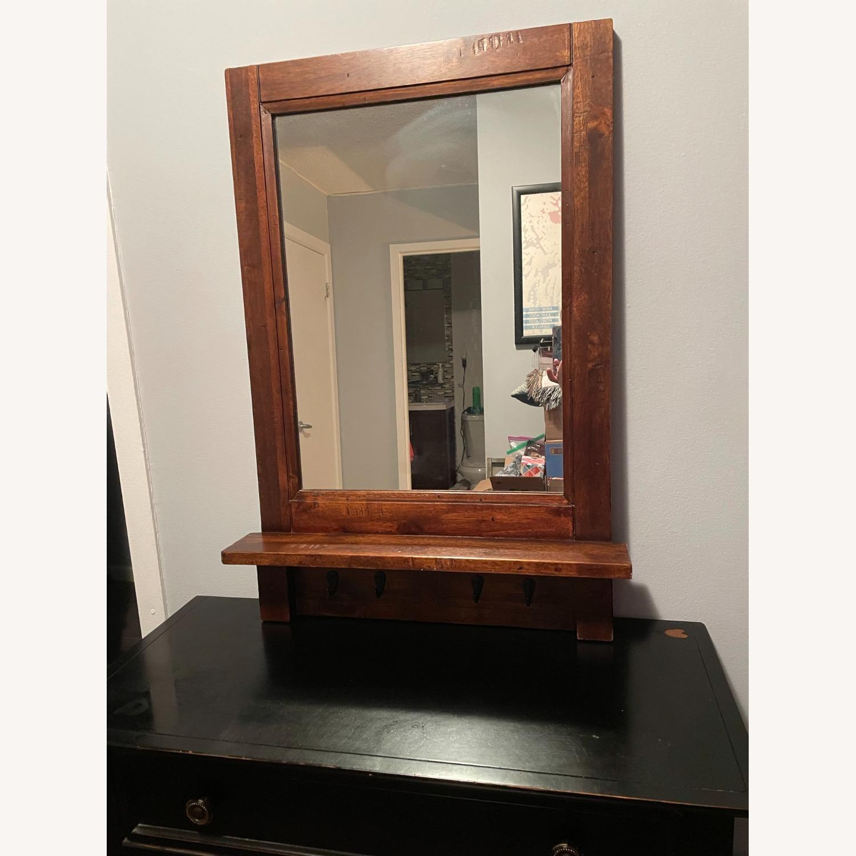 Arhaus Entry Mirror with Key Hooks - image-2