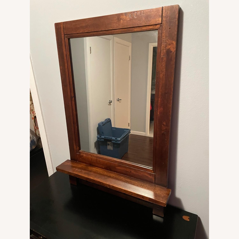Arhaus Entry Mirror with Key Hooks - image-1