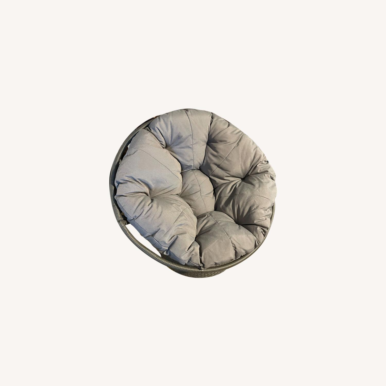 37'' Wide Swivel Papasan Chair - image-0
