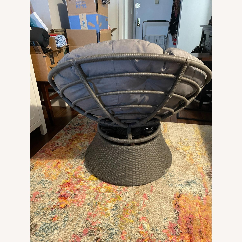 37'' Wide Swivel Papasan Chair - image-5
