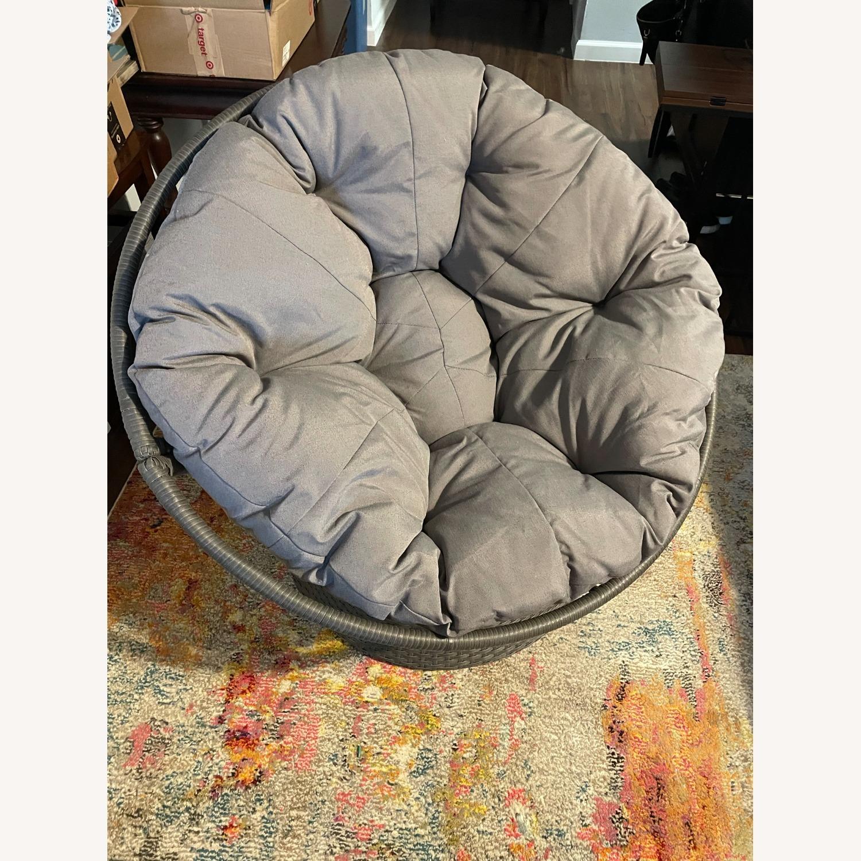 37'' Wide Swivel Papasan Chair - image-3