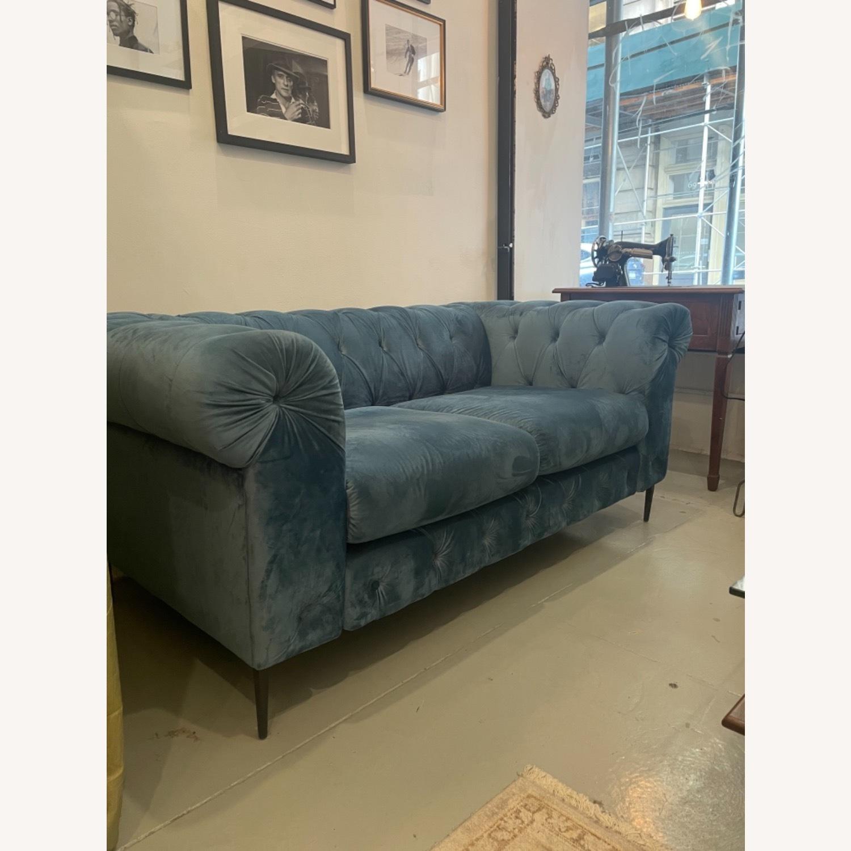 Pristine Blue Velvet Sofa - image-2