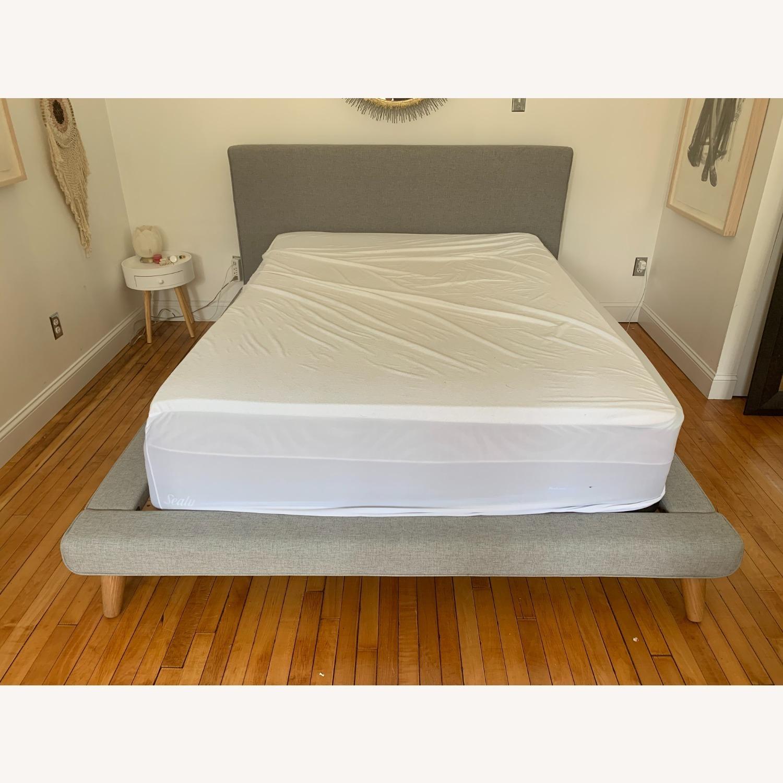 West Elm Mid Century Mod Platform Queen Bed - image-3
