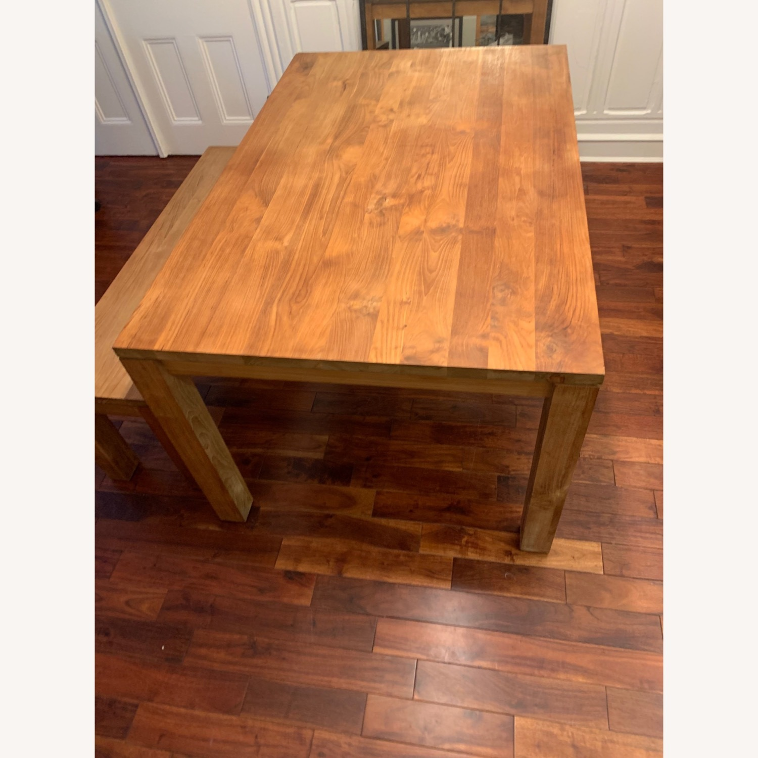 Crate & Barrel Solid Wood Table - image-1
