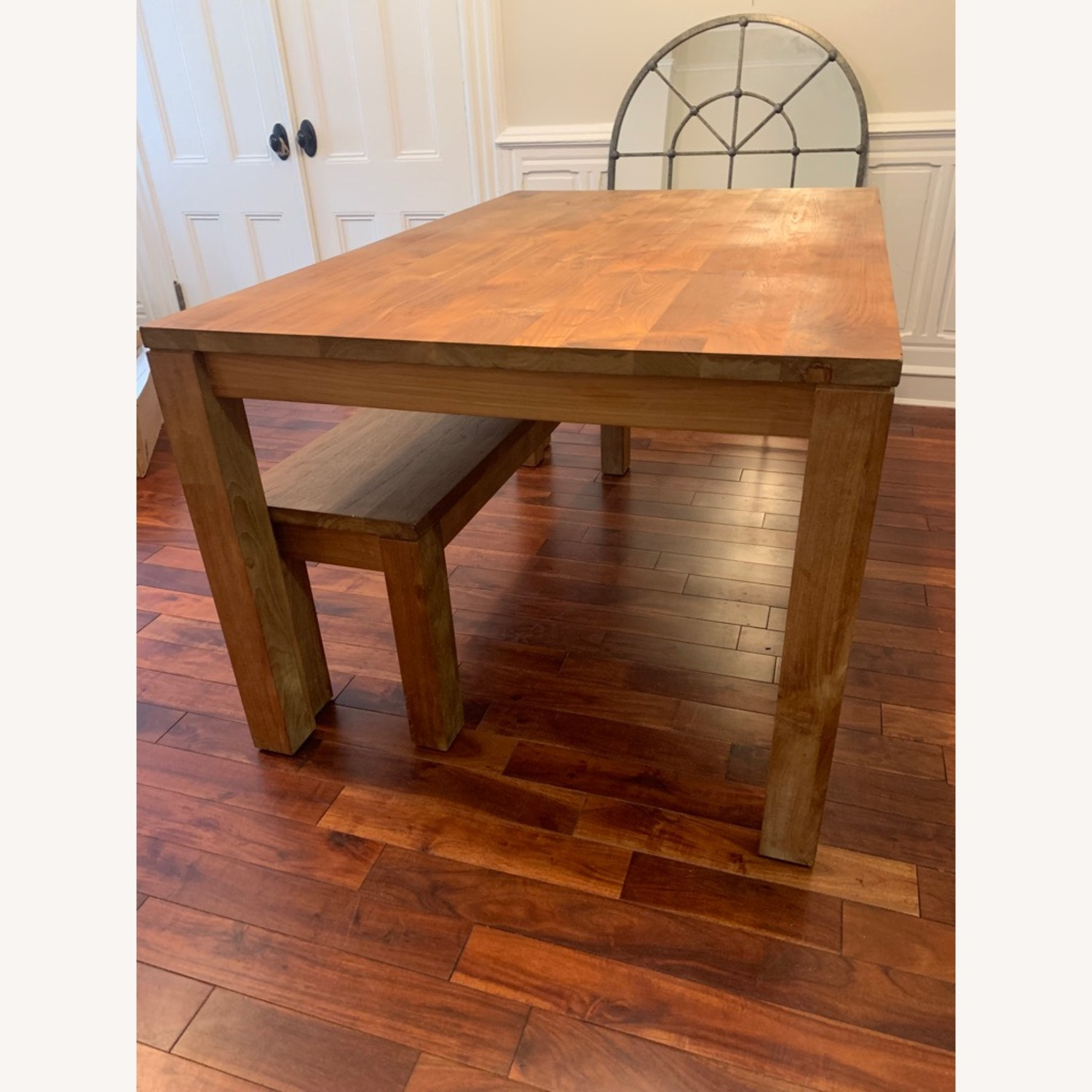Crate & Barrel Solid Wood Table - image-8