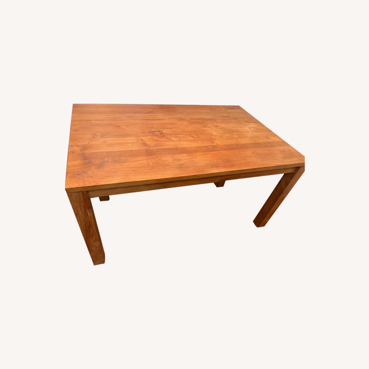 Crate & Barrel Solid Wood Table - image-0
