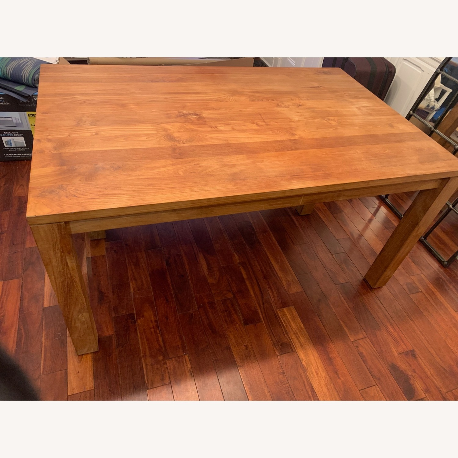 Crate & Barrel Solid Wood Table - image-4