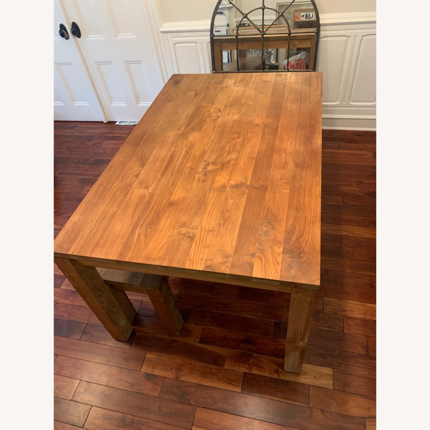 Crate & Barrel Solid Wood Table - image-7