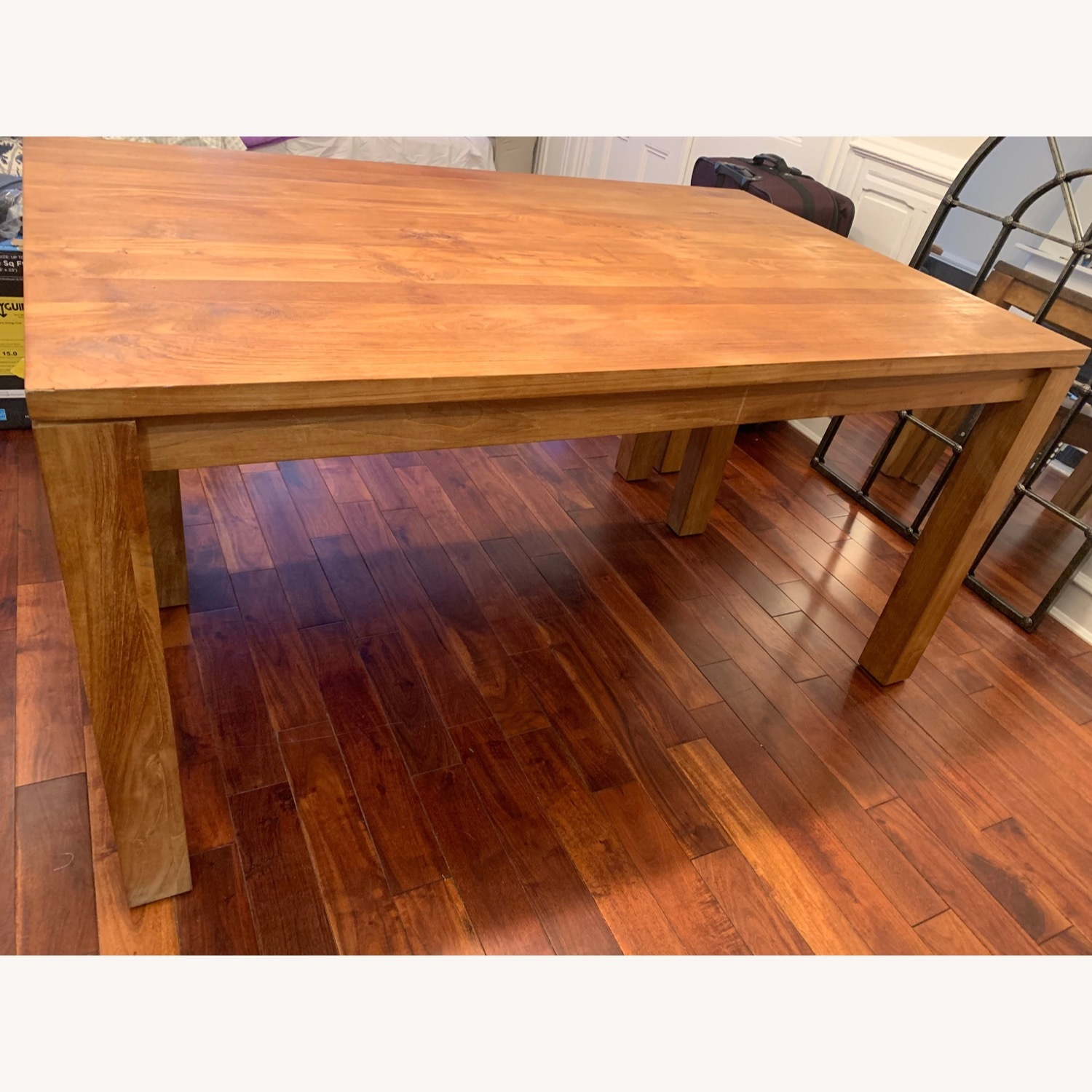 Crate & Barrel Solid Wood Table - image-3
