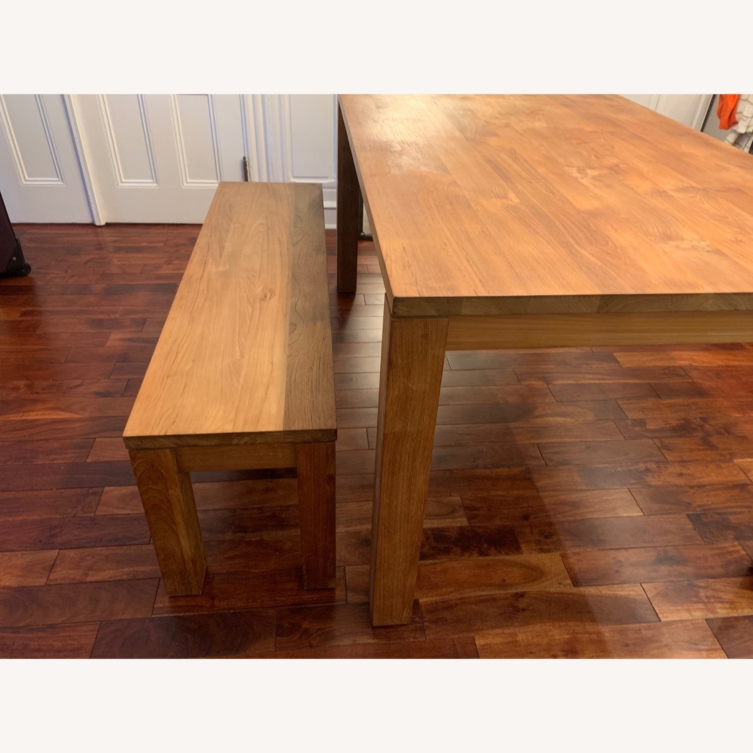 Crate & Barrel Solid Wood Table - image-2