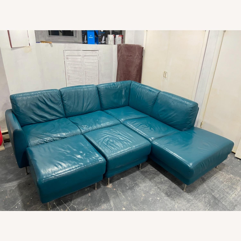 IKEA HAMRA Blue Sectional - image-2