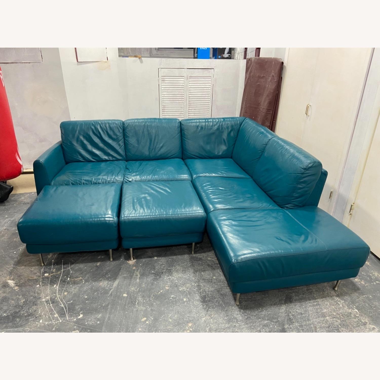IKEA HAMRA Blue Sectional - image-3