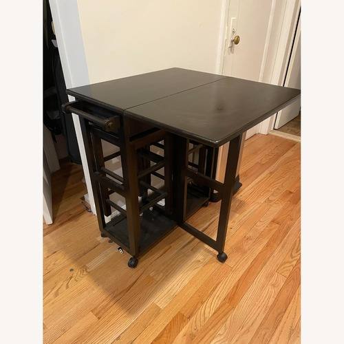 Used Winsome Wood Space Saver Kitchen Table Set 2 for sale on AptDeco