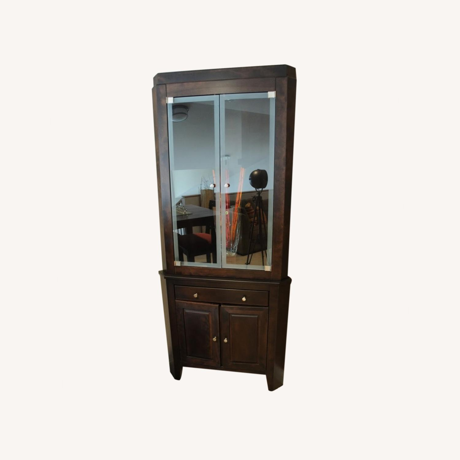 Canadel Corner Curio Cabinet with Light - image-0