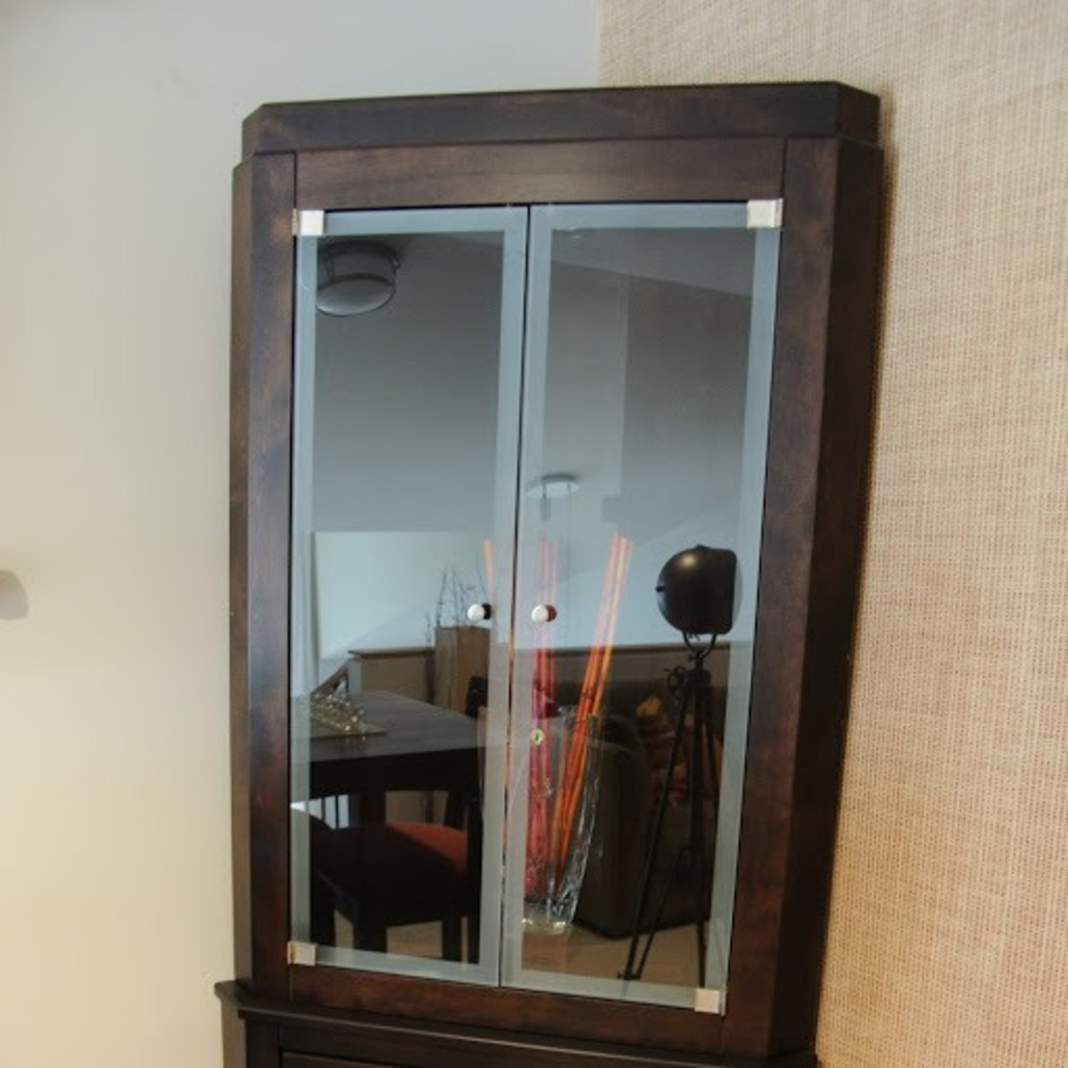 Canadel Corner Curio Cabinet with Light - image-3