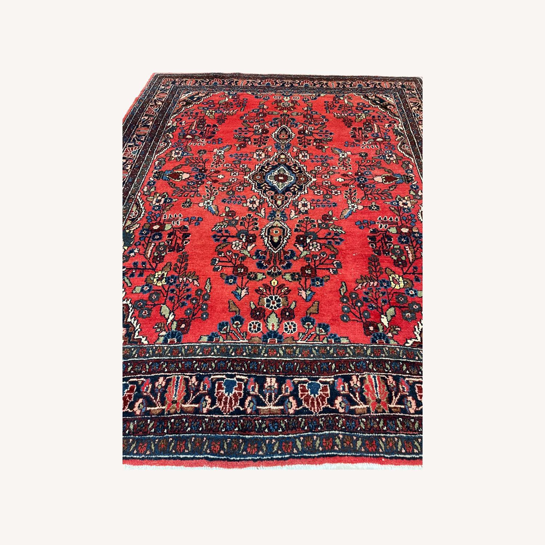 Vintage Handcrafted Persian Hamden Rug - image-0