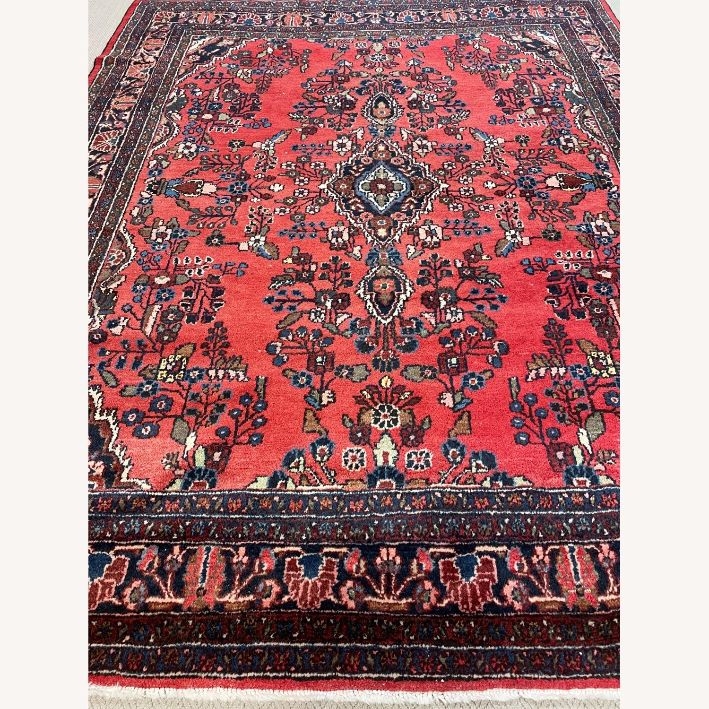 Vintage Handcrafted Persian Hamden Rug - image-5