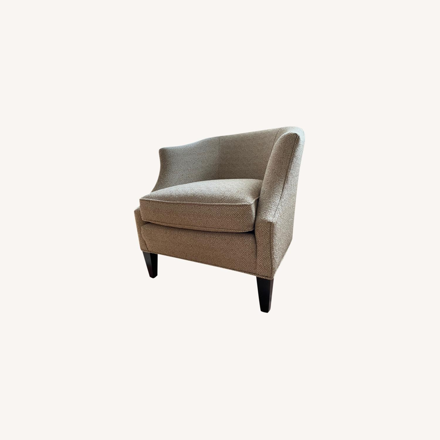 Brown Geometric Patterned Chair - image-0