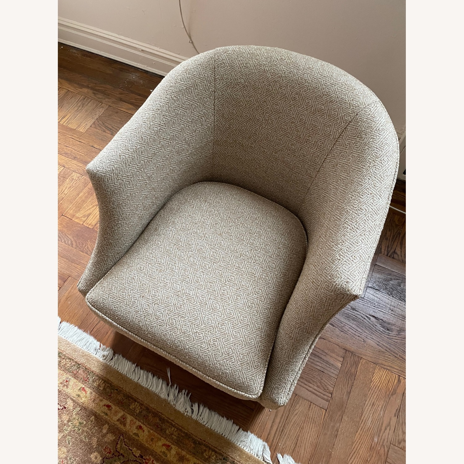 Brown Geometric Patterned Chair - image-3