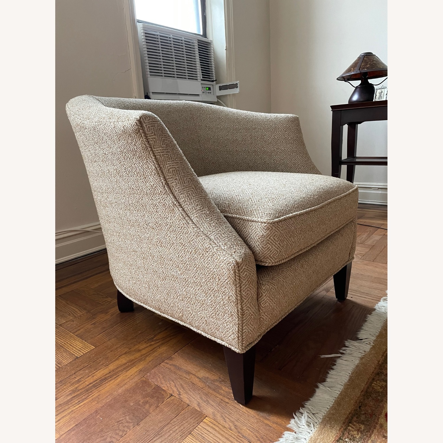 Brown Geometric Patterned Chair - image-2