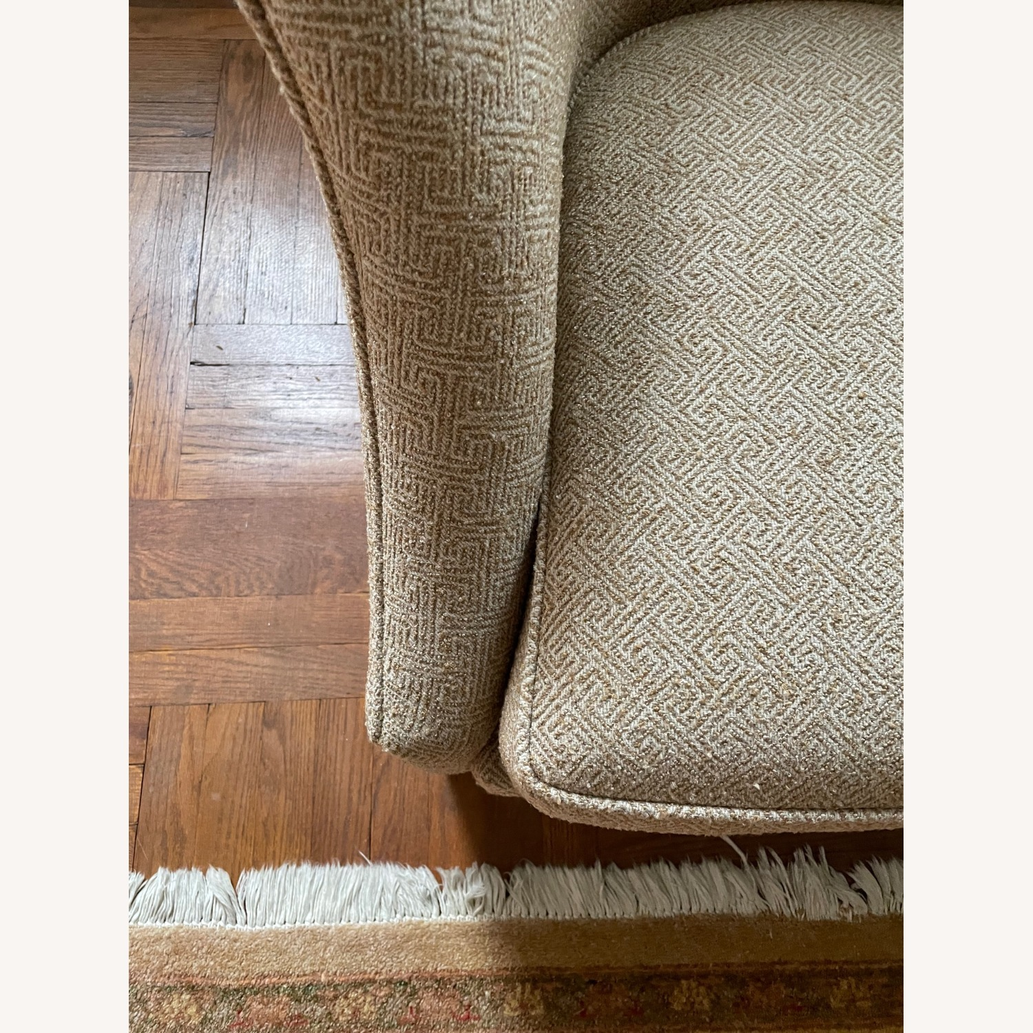 Brown Geometric Patterned Chair - image-4