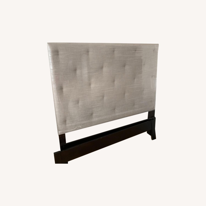 West Elm Diamond Tufted Bed - image-0
