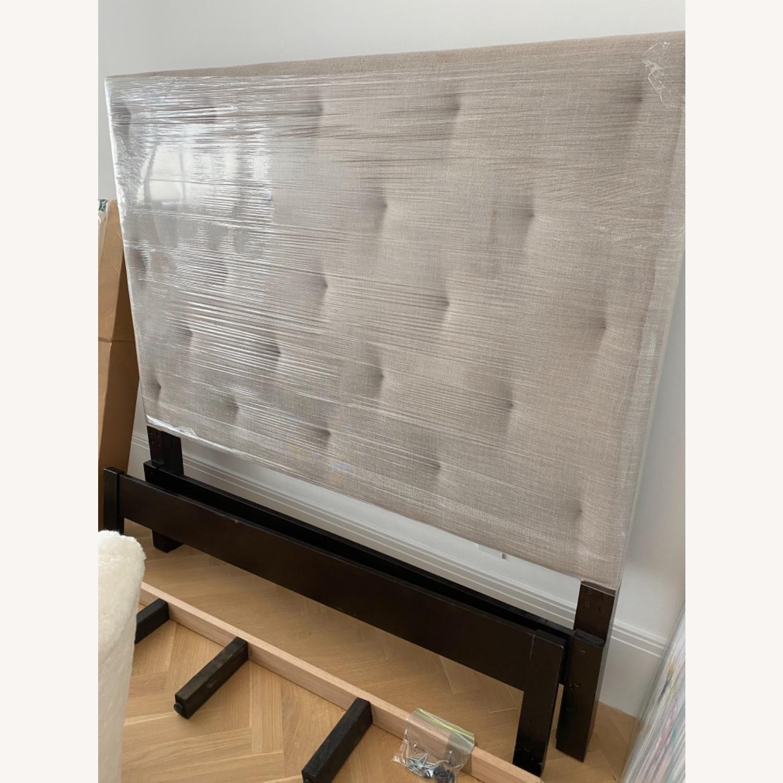 West Elm Diamond Tufted Bed - image-3