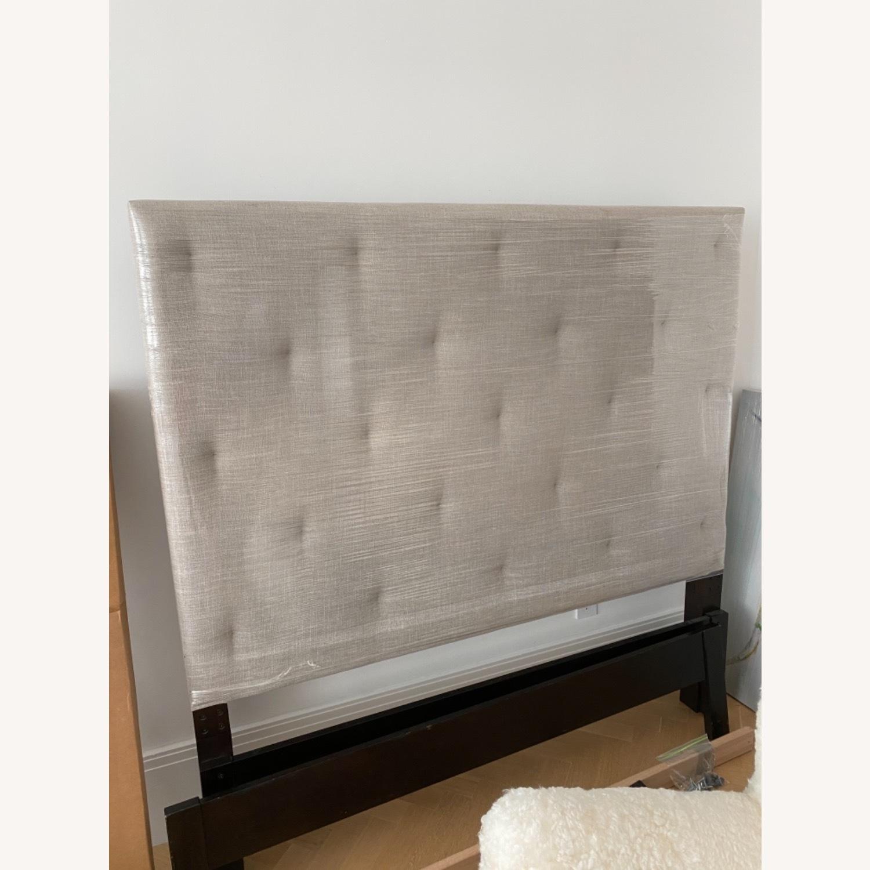 West Elm Diamond Tufted Bed - image-1