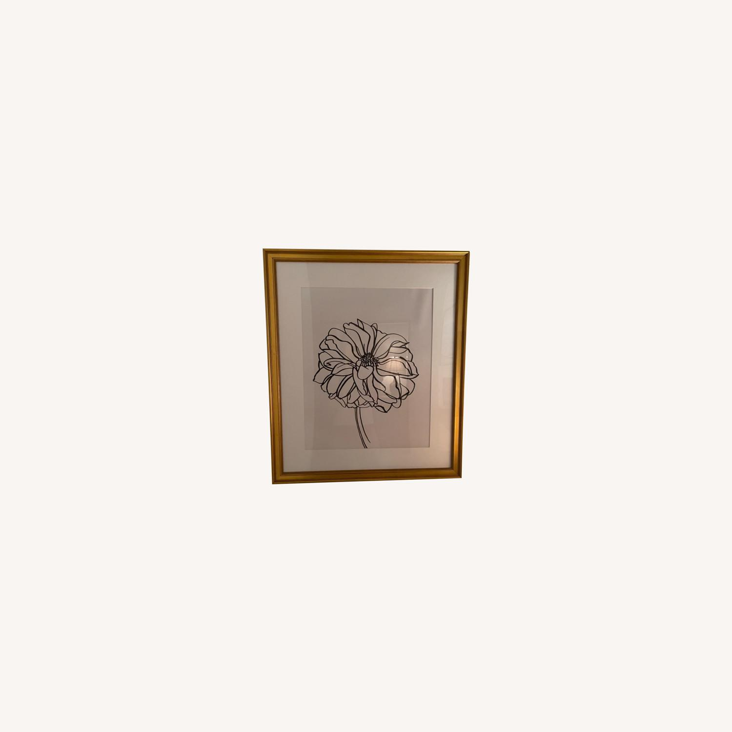 Dahlia in Gold Frame Wall Art - image-0