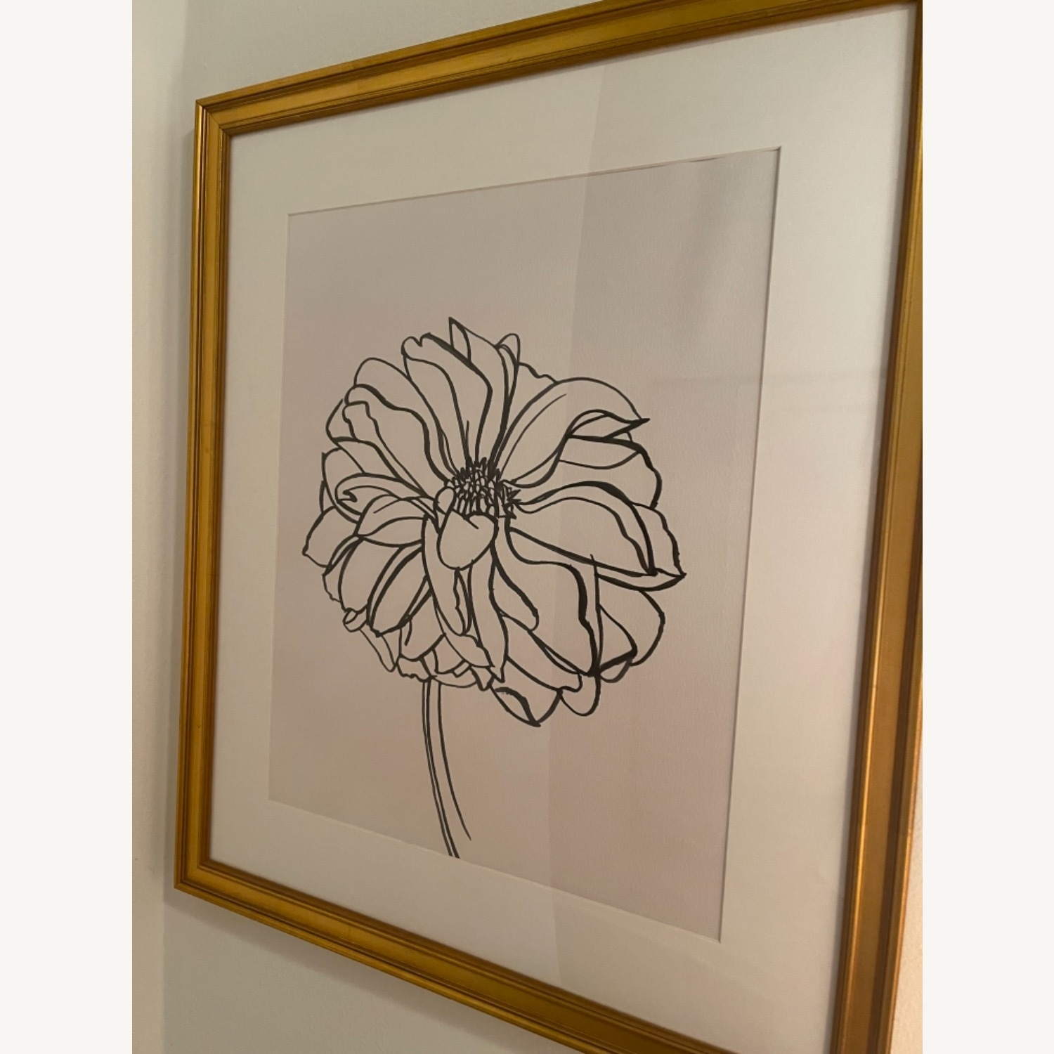 Dahlia in Gold Frame Wall Art - image-3