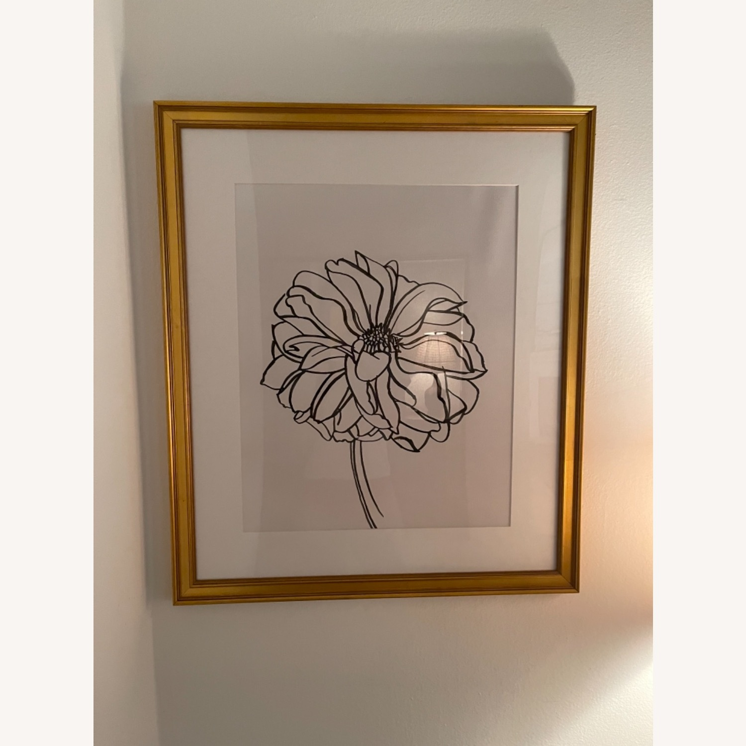 Dahlia in Gold Frame Wall Art - image-1