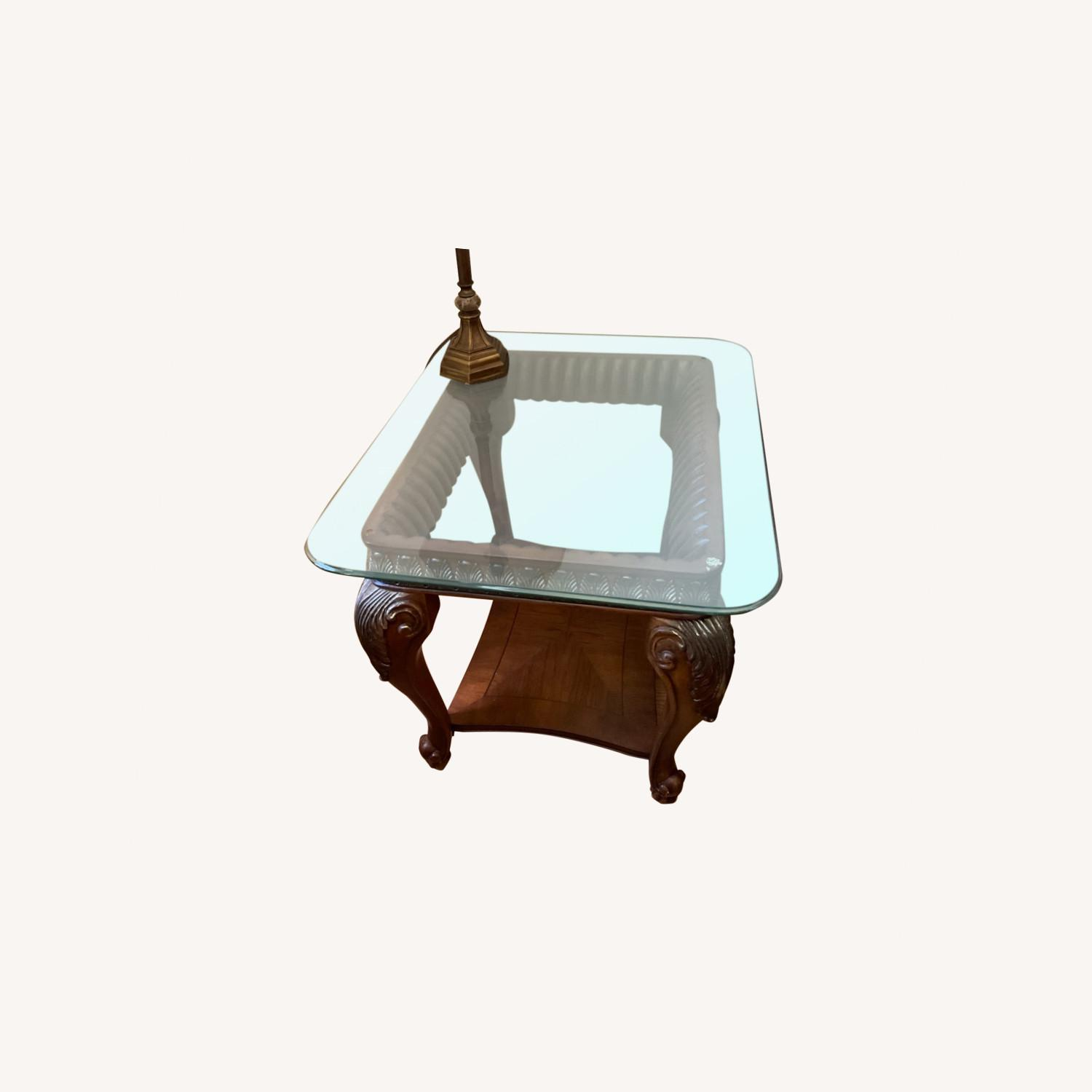 Glass Top Side Tables - image-0
