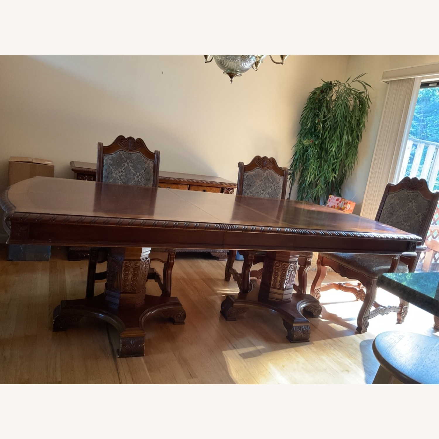 Expandable Formal Dining Room Table - image-2