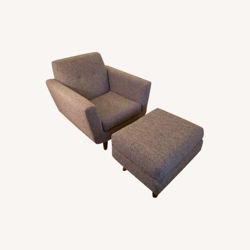 Used Joybird Chair with Ottoman for sale on AptDeco