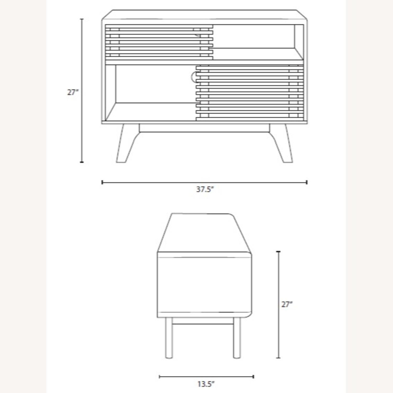 Display Stand In Oak Finish W/ Adjustable Shelf - image-8