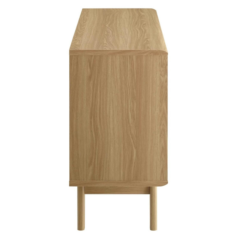 Display Stand In Oak Finish W/ Adjustable Shelf - image-4