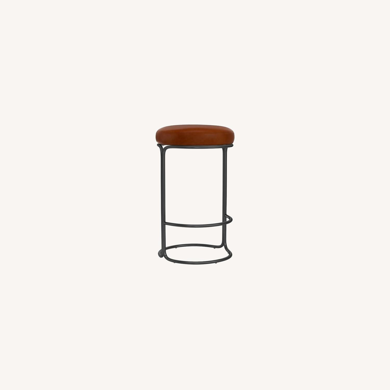 West Elm Cora Leather Counter Stool - image-0