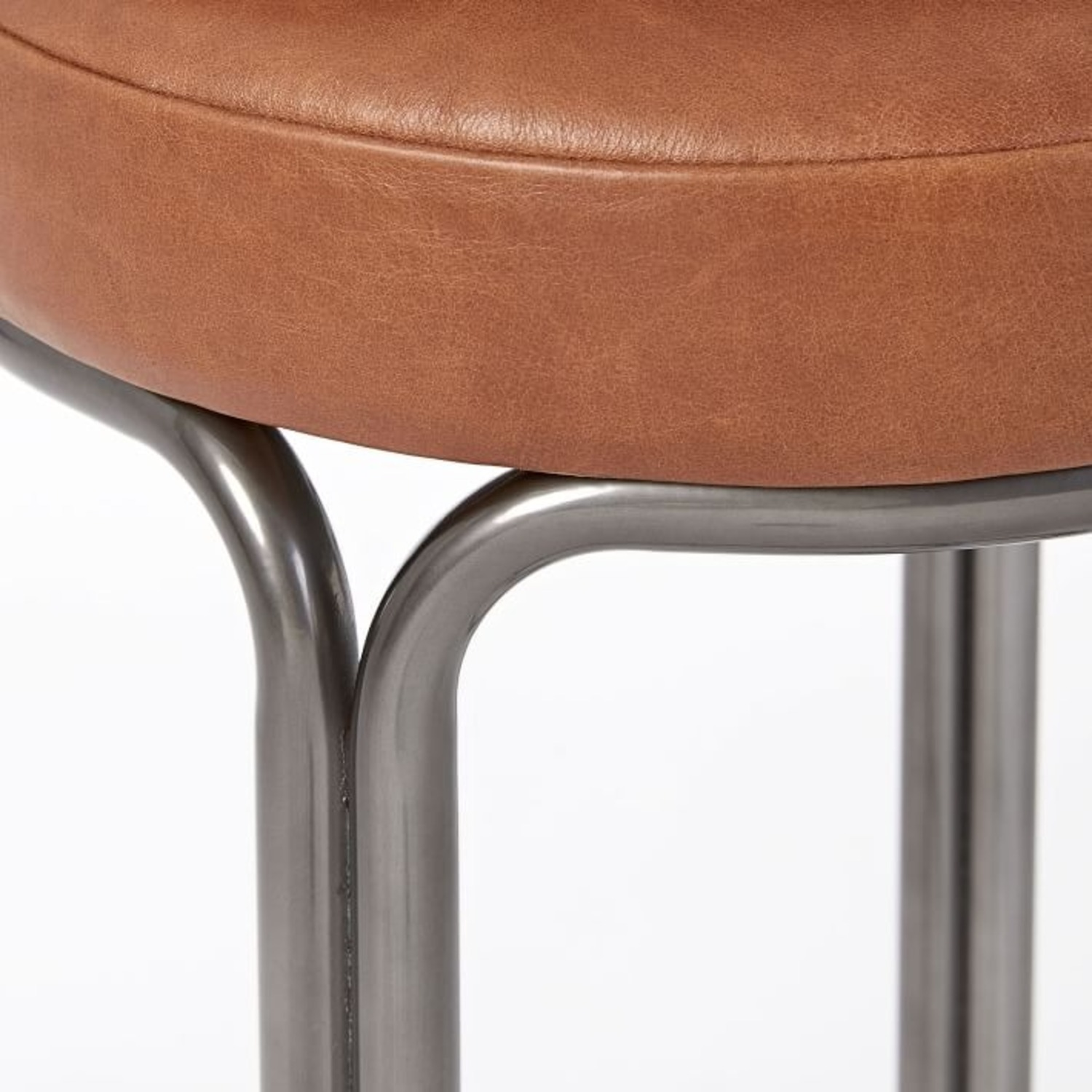 West Elm Cora Leather Counter Stool - image-2