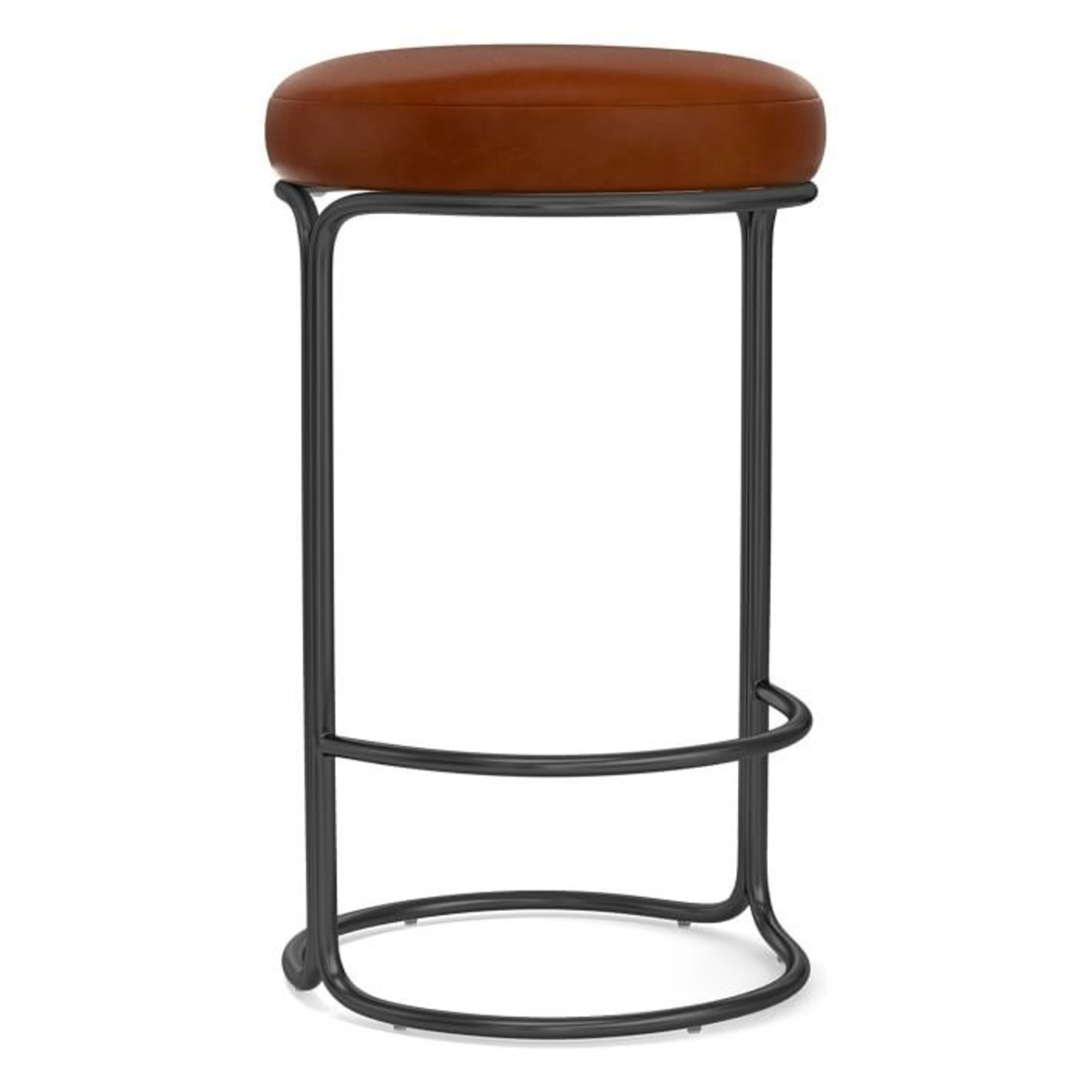 West Elm Cora Leather Counter Stool - image-3