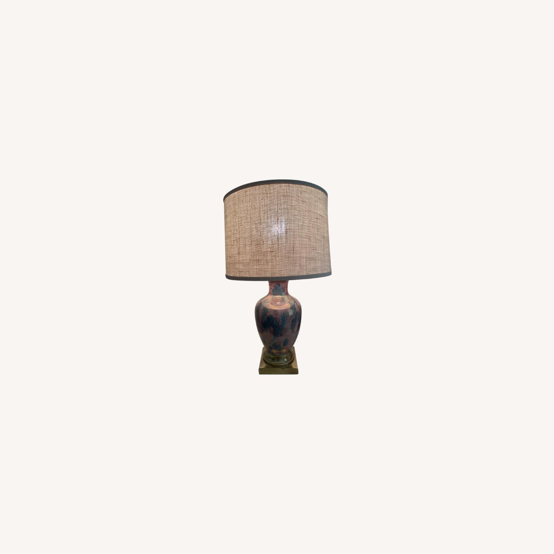 Vintage Gilt Lamp - image-0