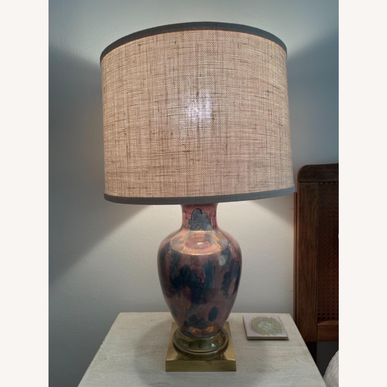 Vintage Gilt Lamp - image-1