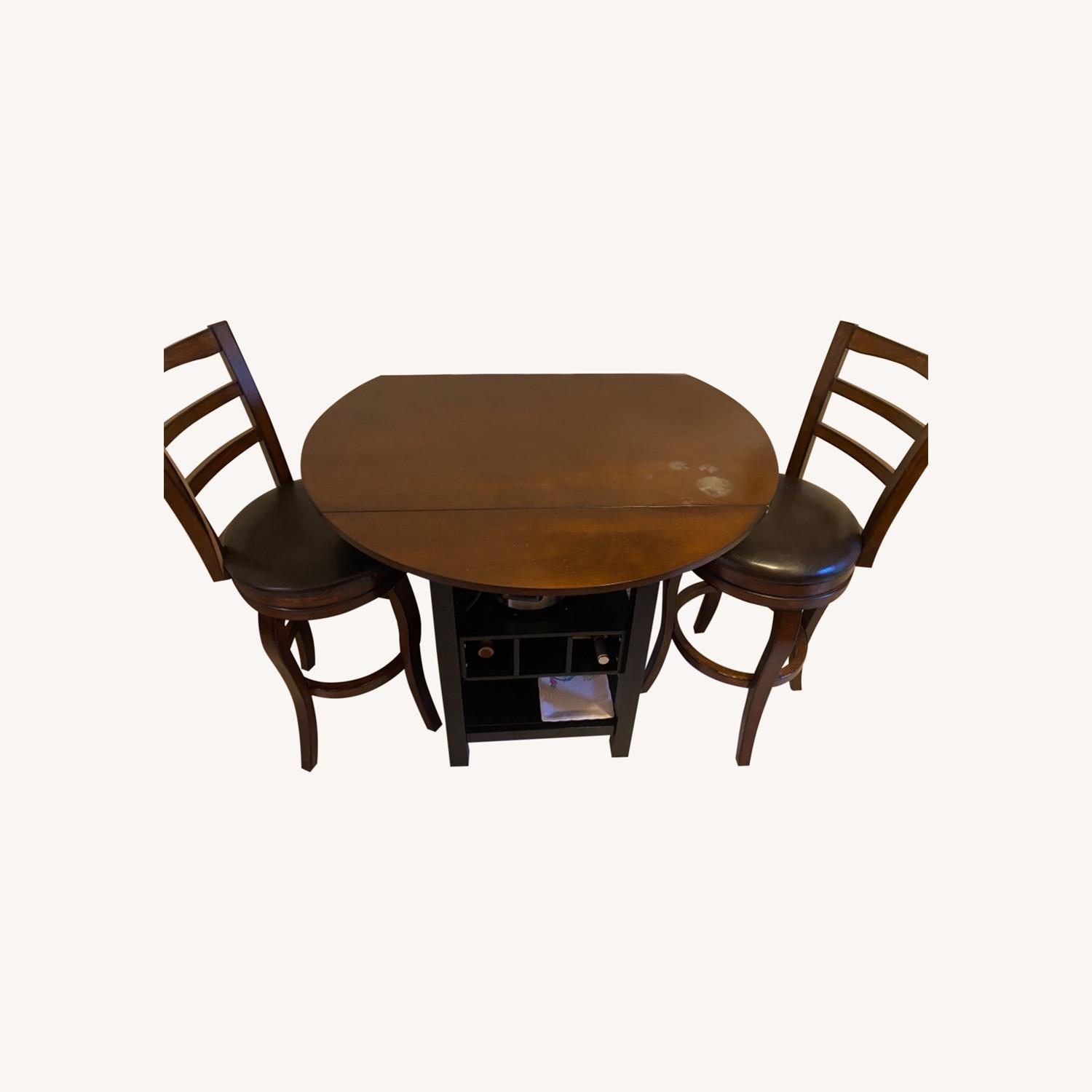 Pub Style Kitchen Table with Chairs - image-0