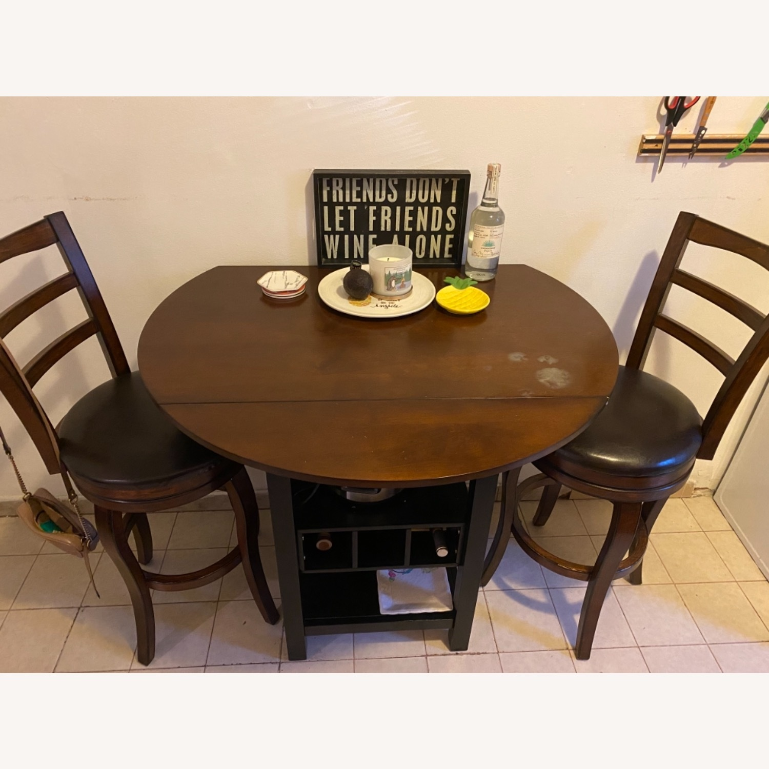 Pub Style Kitchen Table with Chairs - image-1