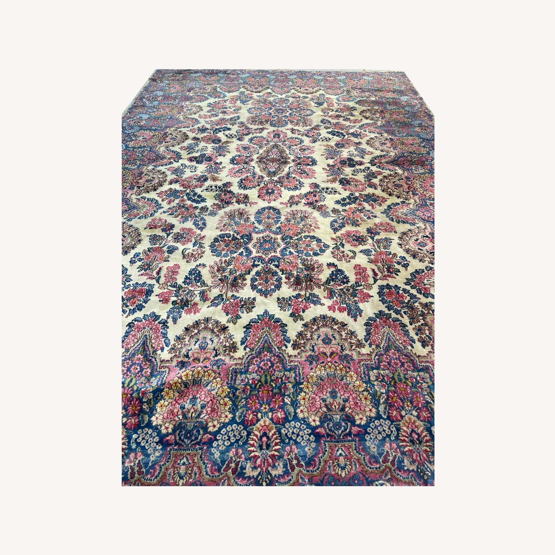 Handcrafted Kerman Area Rug 10' x 14' - image-0