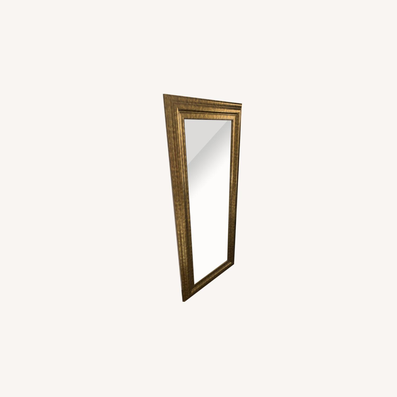 Original Vintage Brass Mirror - image-0