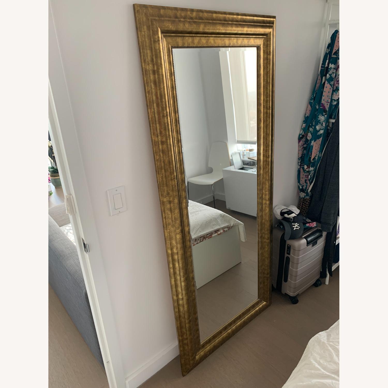 Original Vintage Brass Mirror - image-1
