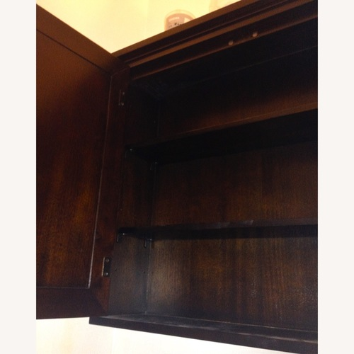Used Crate & Barrel Small Wood Cabinet with 3 Shelves for sale on AptDeco