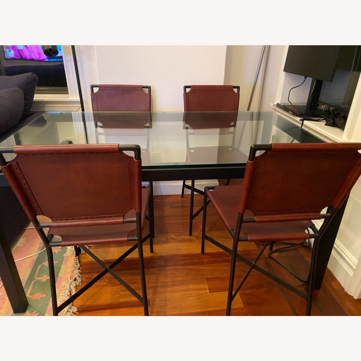 Crate & Barrel Dining Table Glass - image-0