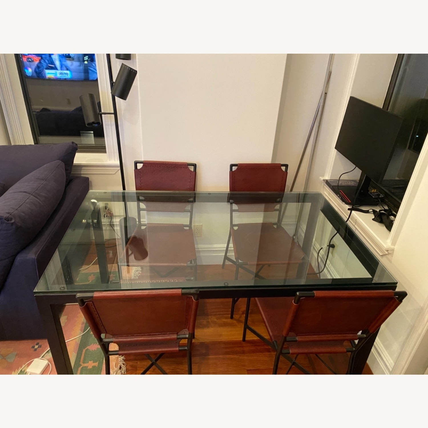 Crate & Barrel Dining Table Glass - image-3