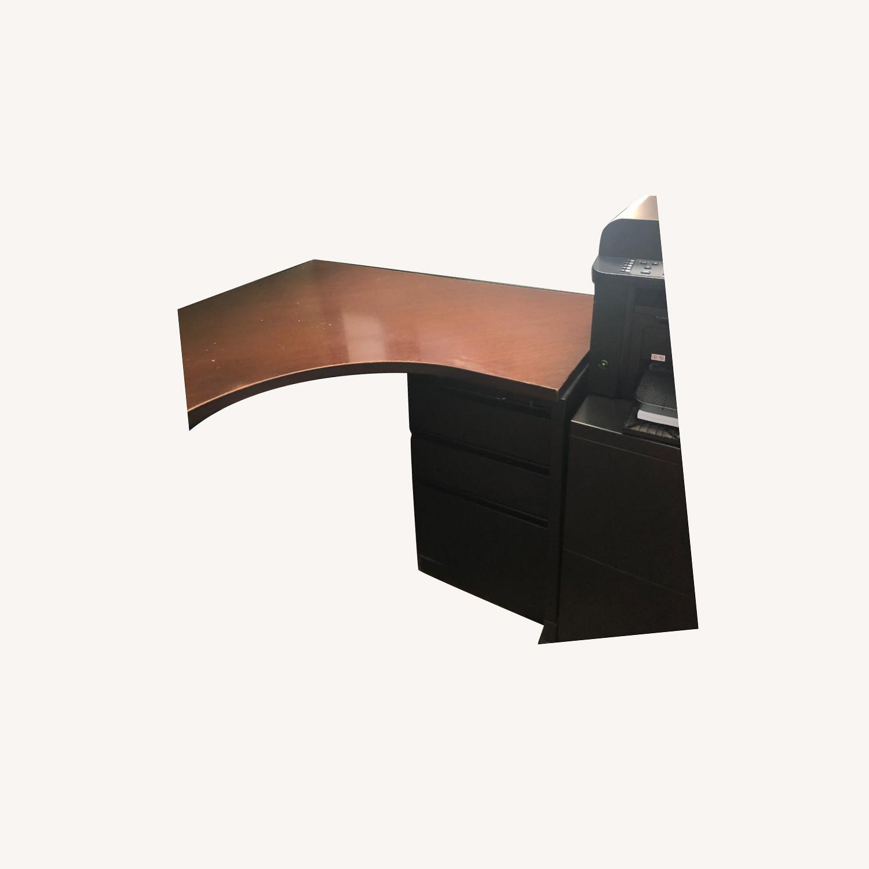 Herman Miller Ethospace Desk and Bookshelves - image-0